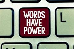 显示词的文字笔记有力量 企业照片陈列的能量能力愈合更加后面的帮助贬低并且欺凌 库存图片