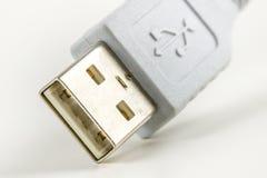 显示象的白色USB插座 免版税图库摄影