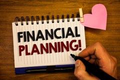 显示财政规划诱导电话的概念性手文字 企业照片文本会计计划战略分析嗡嗡声 库存图片