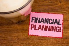 显示财政规划诱导电话的概念性手文字 企业照片文本会计计划战略分析求爱 库存图片