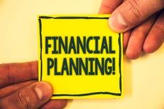 显示财政规划诱导电话的概念性手文字 企业照片文本会计计划战略分析Gri 库存照片