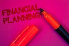 显示财政规划诱导电话的概念性手文字 企业照片文本会计计划战略分析Mag 免版税库存图片