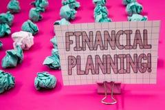 显示财政规划诱导电话的概念性手文字 企业照片陈列的会计计划战略Analy 库存图片