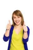 显示赞许的女孩 免版税图库摄影