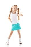 显示赞许的迷人的小女孩的图象 免版税库存图片