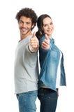 显示赞许的年轻夫妇 免版税图库摄影
