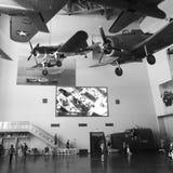 显示里面全国第二次世界大战博物馆 库存照片