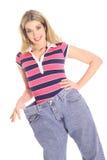 显示重量妇女的角度愉快的损失 库存图片