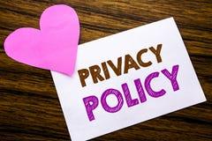 显示隐私权政策的概念性手文字文本 安全在稠粘的便条纸写的数据规则的概念,木木backg 库存照片
