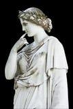 显示雕象的希腊冥想 免版税库存图片
