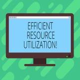 显示高效率的资源运用的概念性手文字 企业最大化有效率的照片文本和 库存例证