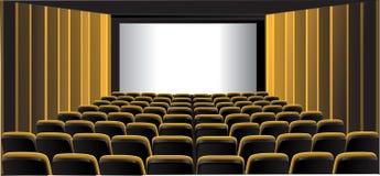 显示黄色的戏院空间 免版税库存图片