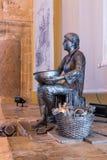 显示19世纪末的生活的雕刻的陈列在土耳其浴-哈马姆El Basha在老镇英亩  免版税库存照片