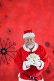 显示货币笔记的圣诞老人的综合图象 免版税库存照片