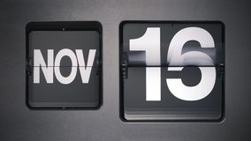 显示11月的日历 股票录像