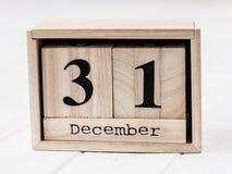 显示12月第三十一的木日历 图库摄影