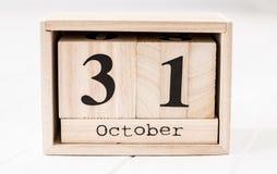 显示12月第三十一的木日历 免版税图库摄影