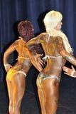 显示他们的最好的女性健身模型 库存照片