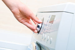 显示洗衣机 免版税图库摄影