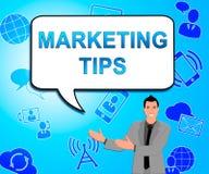 显示EMarketing忠告3d例证的销售的技巧 库存例证