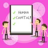 显示Huanalysis资本的概念性手文字 企业照片工作者的经济价值的文本量化 库存例证