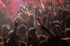 晃动在音乐会的人群 库存图片