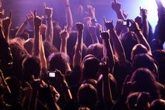 晃动在音乐会的人群 图库摄影