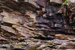 晃动层数,石纹理,古老矿石 库存图片