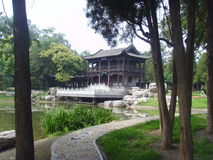 晋祠寺庙 库存图片