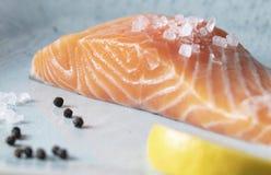 晒干三文鱼食物摄影食谱想法的内圆角人 库存图片