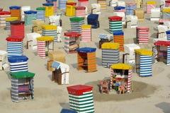 晒日光浴的海滩 库存图片