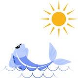 晒日光浴的鱼 免版税库存图片