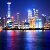 晚上上海 库存照片