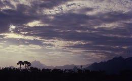 晚上云彩,喀拉拉,印度 免版税库存图片