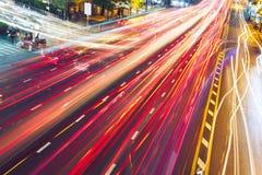 晚上交通堵塞 库存照片