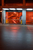 晚上停车 库存图片