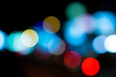 晚上光在城市 免版税库存照片