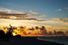 晚上光的邻居海岛 免版税库存照片