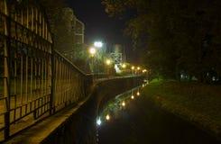 晚上光,达鲁瓦尔,克罗地亚 免版税库存图片