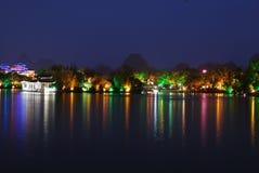 晚上公园在桂林市 免版税库存图片