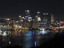 晚上匹兹堡地平线 免版税图库摄影
