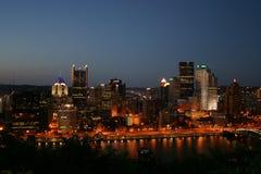 晚上匹兹堡 免版税库存照片