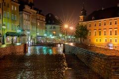 晚上华沙 免版税库存照片