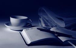 晚上咖啡 免版税库存图片
