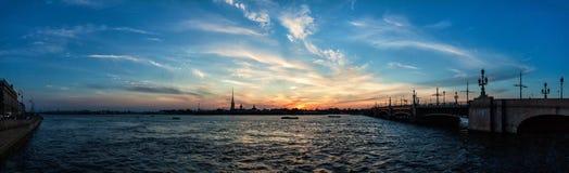 晚上圣彼得堡 图库摄影