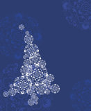 晚上圣诞树 免版税库存照片