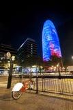 晚上在巴塞罗那 免版税库存照片