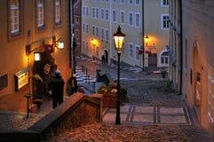 晚上在布拉格 库存图片
