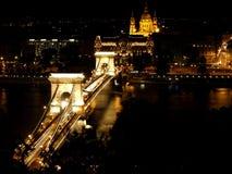 晚上在布达佩斯 免版税库存图片