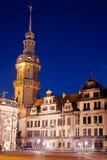 晚上在德累斯顿 免版税库存照片